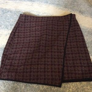 Faux wrap knit skirt